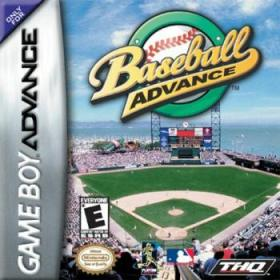 The cover art of the game Baseball Advance.