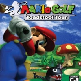 The cover art of the game Mario Golf: Toadstool Tour.