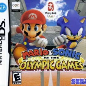 The cover art of the game Mario & Sonic at the Olympic Games.