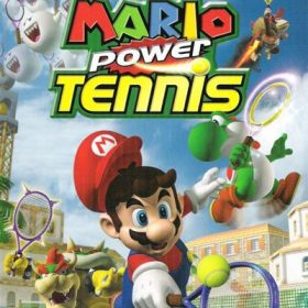 The cover art of the game Mario Power Tennis.