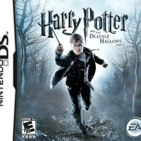 The cover art of the game Harry Potter and the Deathly Hallows: Part 1.