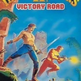 The cover art of the game Ikari Warriors II: Victory Road.