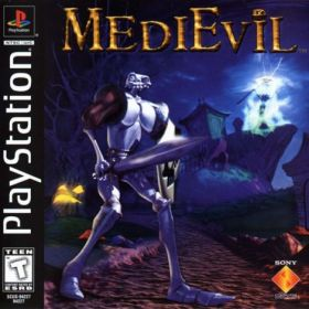 The cover art of the game Medievil.
