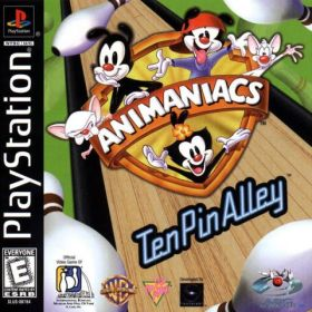 The cover art of the game Animaniacs in Ten Pin Alley.