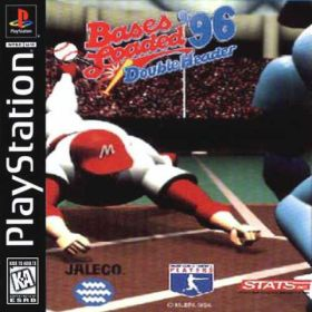 The cover art of the game Bases Loaded '96: Double Header.
