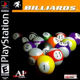 The cover art of the game Billiards.