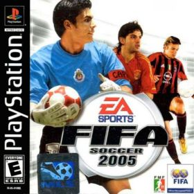 The cover art of the game FIFA Soccer 2005.