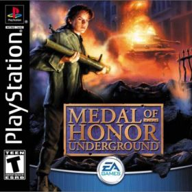 The cover art of the game Medal of Honor: Underground.