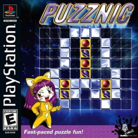 The cover art of the game Puzznic.