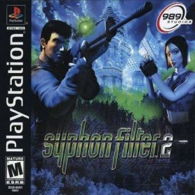 The cover art of the game Syphon Filter 2.