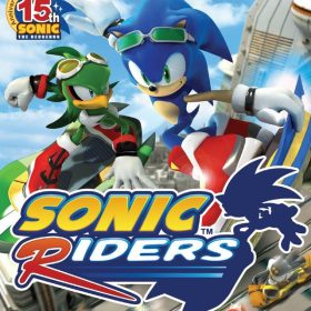 The cover art of the game Sonic Riders.