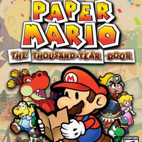 The cover art of the game Paper Mario: The Thousand Year Door.