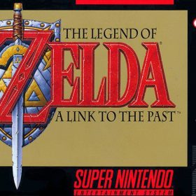 The cover art of the game The Legend of Zelda: Link to the Past.