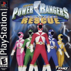 The cover art of the game Power Rangers: Lightspeed Rescue.