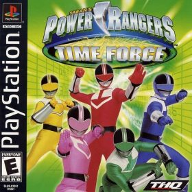The cover art of the game Power Rangers: Time Force.