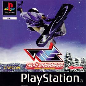 The cover art of the game Trick'N Snowboarder.