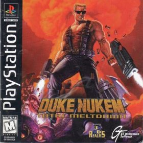 The cover art of the game Duke Nukem: Total Meltdown.