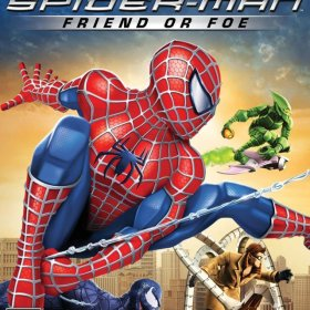 The cover art of the game Spider-Man: Friend or Foe.
