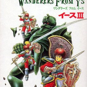 The cover art of the game Ys III: Wanderers from Ys .