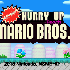 The cover art of the game Mission: Hurry Up, Mario Bros..