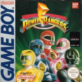 The cover art of the game Mighty Morphin Power Rangers .