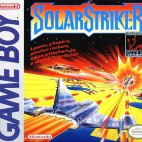The cover art of the game Solar Striker .