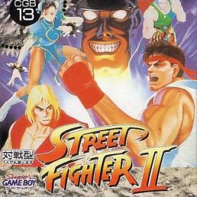 The cover art of the game Street Fighter II .