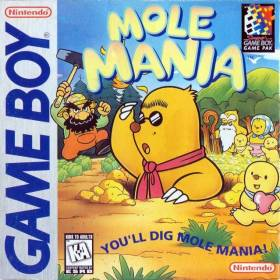 The cover art of the game Mole Mania .