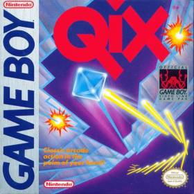The cover art of the game Qix .