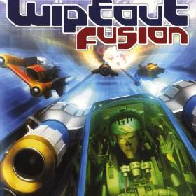 The cover art of the game Wipeout Fusion.