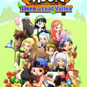 The cover art of the game Harvest Moon: Hero of Leaf Valley.