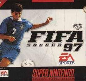 The cover art of the game FIFA '97 - Gold Edition .
