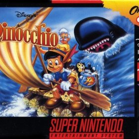 The cover art of the game Pinocchio .