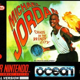 The cover art of the game Michael Jordan - Chaos in the Windy City.