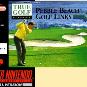 The cover art of the game Pebble Beach Golf Links .