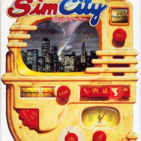 The cover art of the game SimCity.
