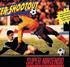 The cover art of the game Capcom's Soccer Shootout.