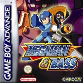 The cover art of the game Mega Man & Bass.