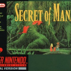 The cover art of the game Secret of Mana .