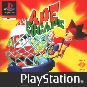 The cover art of the game Ape Escape.