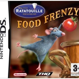 The cover art of the game Ratatouille: Food Frenzy.