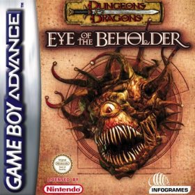The cover art of the game Dungeons and Dragons - Eye of the Beholder .