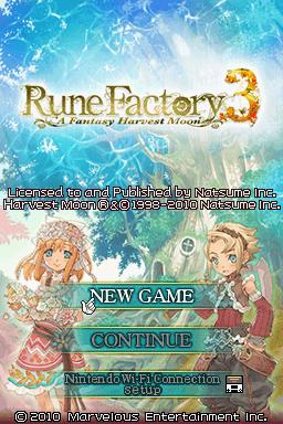 Rune Factory 3 Rom : factory, Factory, Fantasy, Harvest, (Europe), CDRomance