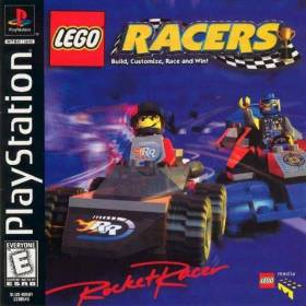 The cover art of the game Lego Racers.