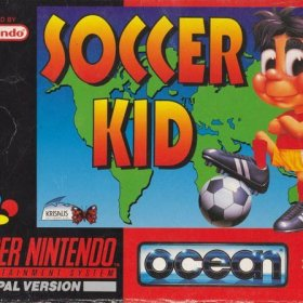 The cover art of the game Soccer Kid .