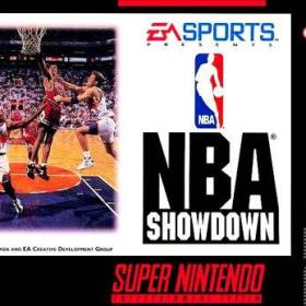 The cover art of the game NBA Showdown .