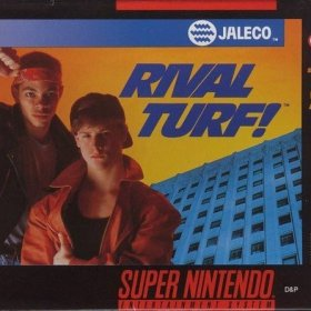 The cover art of the game Rival Turf .