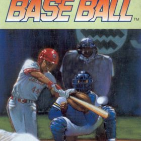 The cover art of the game Super Professional Baseball.