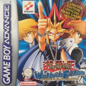 The cover art of the game Yu-Gi-Oh! Worldwide Edition .