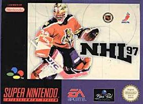 The cover art of the game NHL '97.